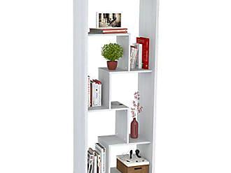 Inval America Inval BE-7904 Laricina White Wood 5 Shelf Bookcase