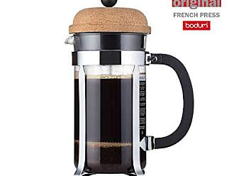 15 cm Glas Bodum Melior Edelstahl Feinmaschige Dauerfilterkaffeemaschine 8 Tassen mit Tritan-Filterhalter Transparent