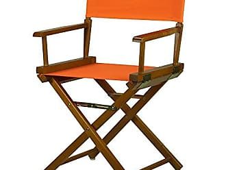 Yu Shan Casual Home 18 Directors Chair Honey Oak Frame with Tangerine Canvas