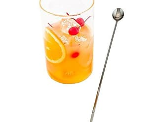 Restaurantware 16 Stainless Steel Muddler Barspoon: Perfect for Professional Bars or At Home Use - Black Plated Mixing Spoon With Muddler Top - 1-CT - Restaurantware