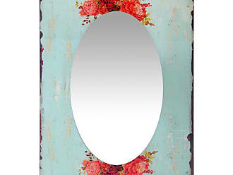 Infinity Instruments Shabby Chic Country Garden Rectangle Wall Mirror -19.75W x 27.5H in. - 15427