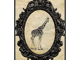Ptm Images Framed Giraffe Framed Canvas Wall Art Beige / Black - 9-115613