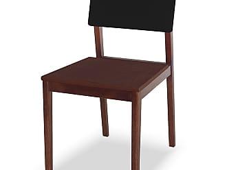 Nem Tudo é Igual Cadeira Felipe Marrom Escuro e PretoMarrom Escuro e Preto