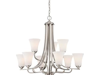 Thomas Lighting TK0021 Treme 9 Light 34 Wide Chandelier with Glass