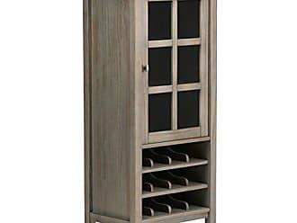 Simpli Home Simpli Home AXWSH008-GR Warm Shaker 12-Bottle Solid Wood 23 inch wide Rustic High Storage Wine Rack in Distressed Grey
