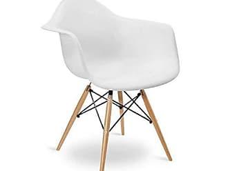 Siena Móveis Cadeira com Braços e Pés em Madeira Flórida Siena Móveis Branco
