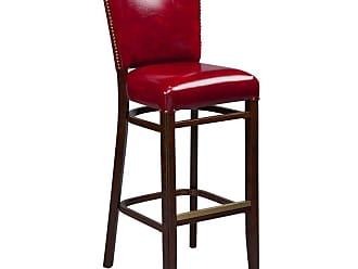 Regal Beechwood 2440 Bar Stool Upholstered Seat and Back with Nailhead Trim Black - 2440FUS-30-MAHOGANY-BLACK