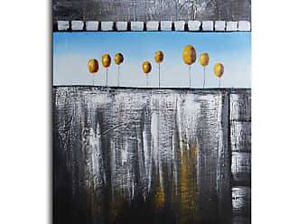 Omax Decor Trees as Gold Orbs Canvas Wall Art - 36W x 48H in. - P0221