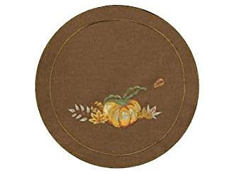 Heritage Lace Pumpkin Patch 12 Round Nutmeg Doily