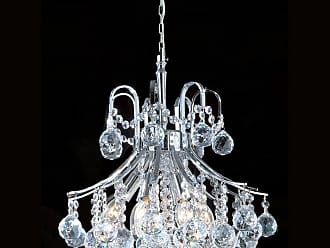 Worldwide Lighting W83039C16 6 Light 1 Tier 16 Chrome Chandelier with