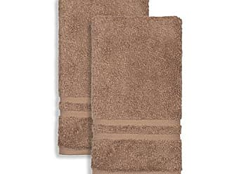 Linum Home Textiles 100% Turkish Cotton Denzi Hand Towels, 2, Brown, 2 Piece
