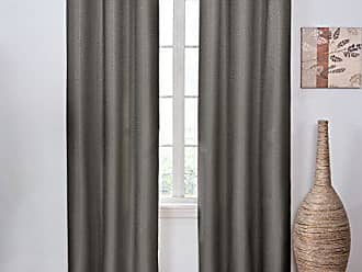 Ellery Homestyles ECLIPSE Blackout Curtains for Bedroom - Madison 42 x 63 Insulated Darkening Single Panel Rod Pocket Window Treatment Living Room, Smoke