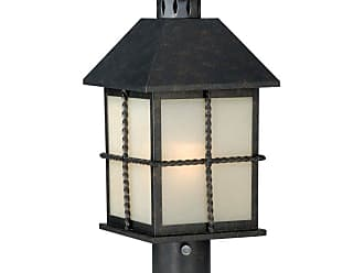 Vaxcel Savannah Outdoor Post Light - 8W in. Gold Stone - T0028