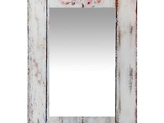 Infinity Instruments Shabby Chic Picket Fence Rectangle Wall Mirror - 19.75W x 27.5H in