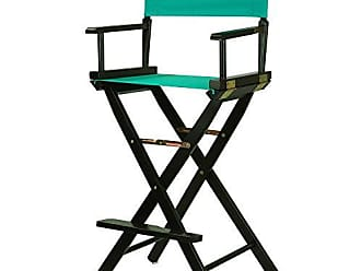 Yu Shan Casual Home 30 Directors Chair Black Frame-with Teal Canvas, Bar Height