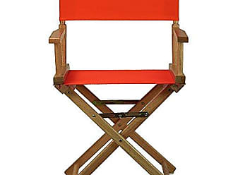 Yu Shan Casual Home 24 Directors Chair Natural Frame with Orange Canvas, Counter Height