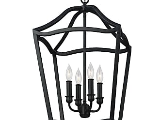 Feiss Yarmouth 4 - Light Foyer in Antique Forged Iron