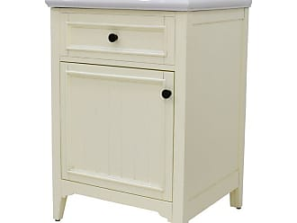 222 Fifth Rustic Rectangular Single Sink Bathroom Vanity - 7040WH900B1J09