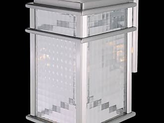 Feiss OL3402BRAL Mission Lodge Wall Mount Lantern in Brushed Aluminum finish with Clear checked glass