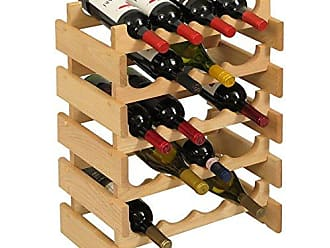 Wooden Mallet 20 Bottle Dakota Wine Rack, Unfinished