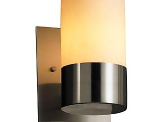Justice Design CandleAria Dakota 1 Light CNDL-8761-14-AMBR Wall Sconce with Melted Rim Shade Amber - CNDL-8761-14-AMBR-NCKL