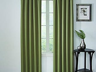 Ellery Homestyles Eclipse Corinne Blackout Window Curtain Panel, 42 x 95, Olive