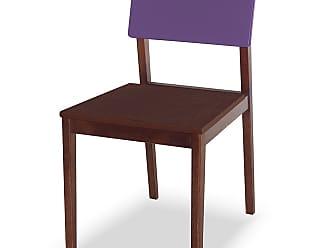Nem Tudo é Igual Cadeira Felipe Marrom Escuro e RoxoMarrom Escuro e Roxo