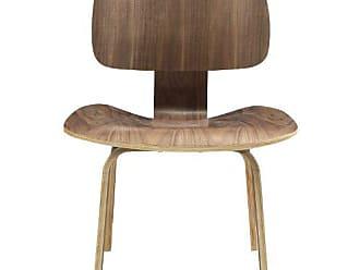 ModWay Modway Fathom Mid-Century Modern Molded Plywood Dining Chair in Walnut