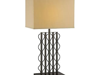 Lite Source Inc. LS-22358 Rexford 1 Light Table Lamp with Beige Fabric