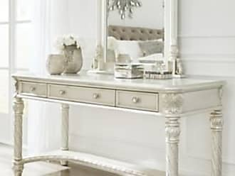 Ashley Furniture Cimore Vanity And Mirror Pearl Silver
