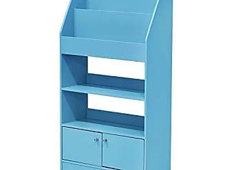 Furinno FR16119LB KidKanac Magazine/Bookshelf with Toy Storage Cabinet, Light Blue