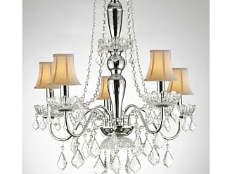 Harrison Lane J2-1131 5 Light 22-1/2 Wide Crystal Chandelier with
