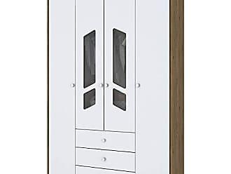 Henn Guarda-Roupa Henn Bambolê I111-18 4 Portas Rústico/Branco SE