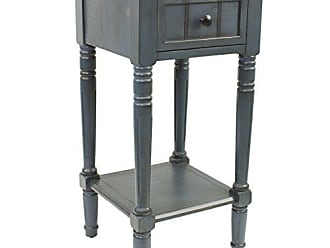 Decor Therapy FR1548 Simplify One Drawer Square Accent Table, Antique Navy