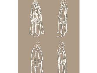 Inked and Screened Star Wars Characters: Bib Fortuna Print, 11 x 17, Kraft - White Ink
