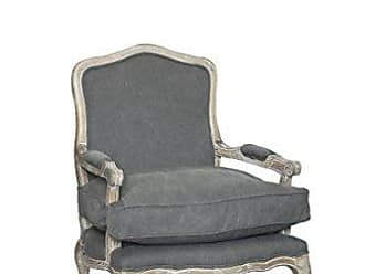 Pangea Home Z White and Frost Grey Rodney Lounge Chair, Antique