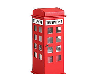 Ore International ORE International HBB1817 British Telephone Booth Leather Jewelry Box, Red