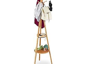 Garderobenständer 8 Haken offen Design Baum Bambus XL freistehend Kleiderständer