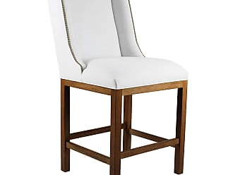 SOUTH CONE Marina 26 in. Nailhead Counter Stool - MRBS26NAILCOGNACBRWN