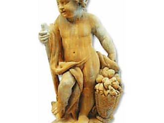 Orlandi Statuary Harvest Cherub Garden Statue - F69176HARVESTCHERUB