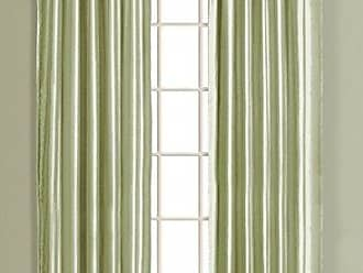United Curtain Lincoln Interlined Faux Silk Window Panel, 54 by 95, Sage, 54 X 95
