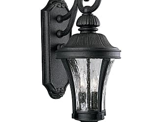 PROGRESS P5836-71 Two-light wall lantern in Gilded Iron finish with water seeded glass