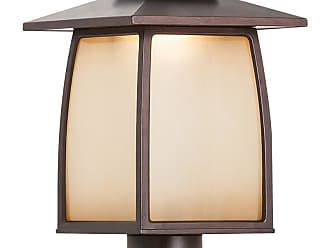 Feiss Wright House 16.19 LED Outdoor Lantern Post in Sorrel Brown