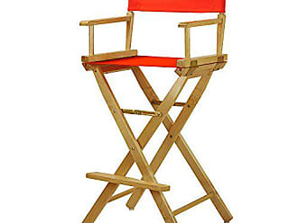 Yu Shan Casual Home 30 Directors Chair Natural Frame-with Orange Canvas, Bar Height