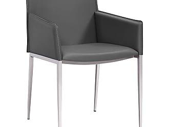 Whiteline Daphne Dining Arm Chair - DAC1392P-GRY