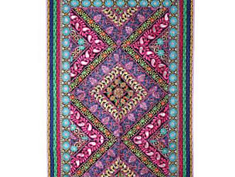 Novica Recycled cotton blend patchwork wall hanging, Paisley Glamour