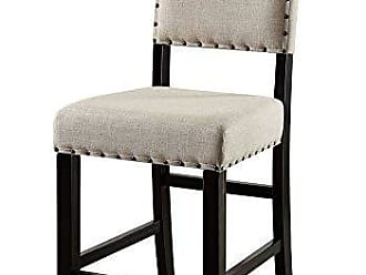 FURNITURE OF AMERICA CM3324BK-PC-2PK Sania Ii Counter Height Dining Chairs