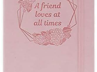 AngelStar Notebook - A Friend Loves at All Times Multicolored