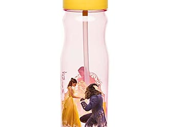 Zak designs BUBA-P280 Disney Live Action Beauty And The Beast Tritan Straw Bottle, 25 Ounce, Multicolor