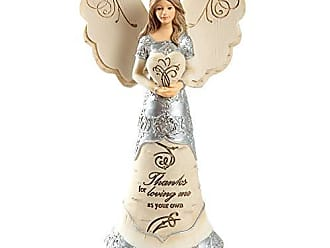 Pavilion Gift Company Love You to The Moon /& Back 6 Angel Holding Moon 6 Inch Beige
